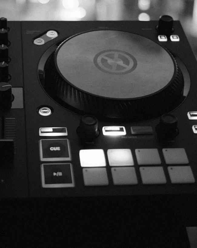 Close up of Native Instruments TRAKTOR controller