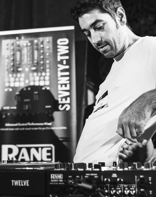 DJing using Rane Twelve and Rane Seventy Two mixer
