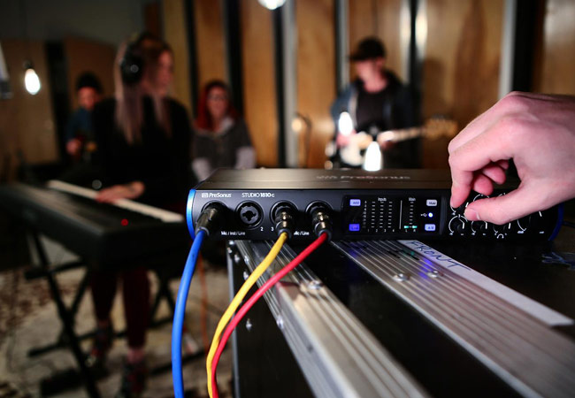 Using a USB audio interface to record a band