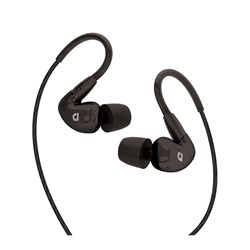 Audiofly AF100C In-Ear Monitors w/ Clear-Talk Mic & Button Remote (Black)