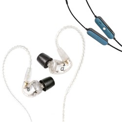 Audiofly AF1120 In-Ear Monitors (Clear) w/ AFC1 BTC Wireless Bluetooth Cable