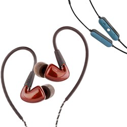 Audiofly AF160 In-Ear Monitors (Resin Red) w/ FREE AFC1 BTC Wireless Bluetooth Cable