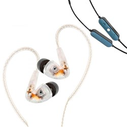 Audiofly AF180 In-Ear Monitors (Clear) w/ FREE AFC1 BTC Wireless Bluetooth Cable