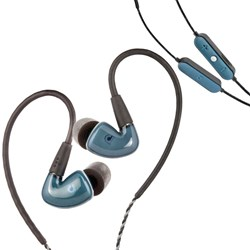 Audiofly AF180 In-Ear Monitors (Stone Blue) w/ AFC1 BTC Wireless Bluetooth Cable