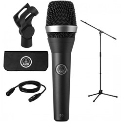 AKG D5 Stage Pack Vocal Dynamic Mic w/ Cable and Stand