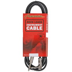 Australasian Rock Leads Instrument Cable Straight - Right-Angle (10ft)