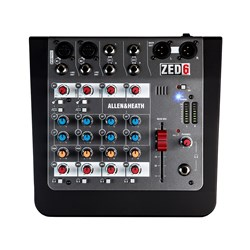 Allen & Heath ZED-6 Compact 6-Input Analogue Mixer