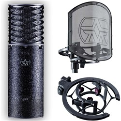 Aston Spirit LTD Edition Black Multi-Pattern Condenser Mic Bundle w/ Swift Shield Filter