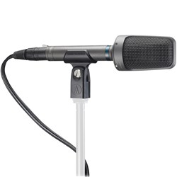 Audio Technica AT8022 Balanced X/Y Stereo Broadcast Condenser w/ Clamp, Windscreen & Pouch