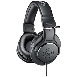 Audio Technica ATH M20x Monitoring Headphones - 1.2m Cable Version (Black)