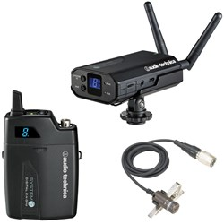 Audio Technica ATW1701L System 10 Camera-Mount Digital Wireless Lavalier Mic System