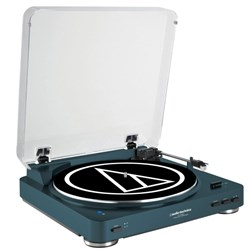 Audio Technica AT LP60BT Wireless Bluetooth Turntable (Navy)