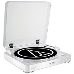 Audio Technica AT LP60BT Wireless Bluetooth Turntable (White)
