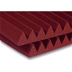 "Auralex 2"" Studiofoam Wedge 12x 2ft x 2ft Panels(Burgundy)"