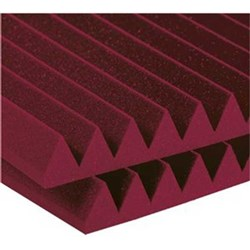 "Auralex 2"" Studiofoam Wedge 12x 2ft x 4ft Panels (Burgundy)"