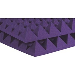 "Auralex 4"" Studiofoam Pyramid 6x 2ft x 2ft Panels (Purple)"