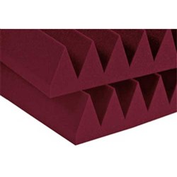 "Auralex 4"" Studiofoam Wedge 6x 2ft x 2ft Panels(Burgundy)"