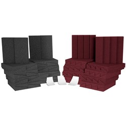 Auralex D36 Room Kit Charcoal & Burgundy 36x Panels