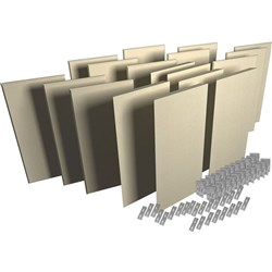 Auralex ProPanel ProKit-2 Acoustic Room Treatment System  - 18 Panels (Sandstone)