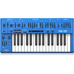 Behringer MS101 Analog Synthesiser Keyboard w/ Live Performance Kit (Blue)