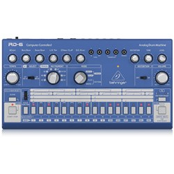 Behringer RD6 Classic 606 Analog Drum Machine w/ 16 Step Sequencer (Blue)