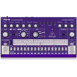 Behringer RD6 Classic 606 Analog Drum Machine w/ 16 Step Sequencer (Grape)
