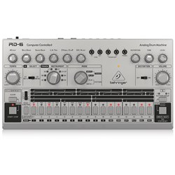 Behringer RD6 Classic 606 Analog Drum Machine w/ 16 Step Sequencer (Silver)