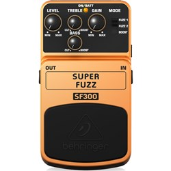 Behringer SF300 Super Fuzz 3-Mode Fuzz Distortion Effects Pedal