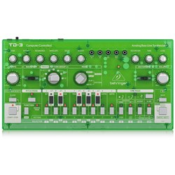 Behringer TD3 Analog Bass Line Synth w/ VCO, VCF, 16-Step Sequencer (Lime)