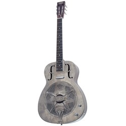 Bourbon Street 1C-A Style 0 Distressed Look Resonator w/ Pickup & Case