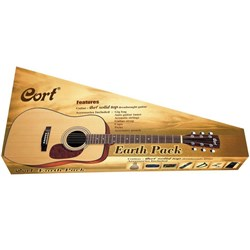Cort Earth 70 Acoustic Guitar Pack w/ Solid Spruce Top inc Bag, Tuner, Strings & Picks