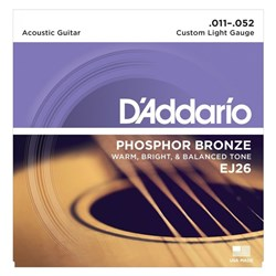 D'Addario EJ26 Phosphor Bronze Acoustic Guitar Strings - Custom Light (11-52)