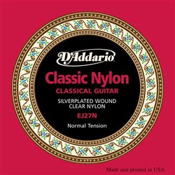 D'Addario EJ27N Student Nylon Classical Guitar Strings (Normal Tension)