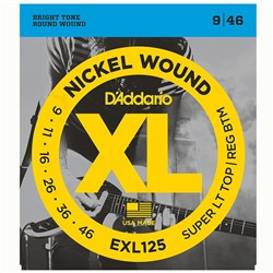 D'Addario EXL125 Nickel Wound Electric Strings - Super Light Top / Regular Bottom (9-46)