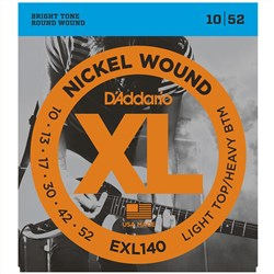 D'Addario EXL140 Nickel Wound Electric Guitar Stings - Light Top/Heavy Bottom (10-52)