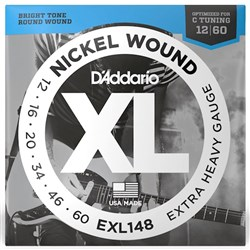 D'Addario EXL148 Nickel Wound Electric Guitar Strings - Extra-Heavy (12-60)