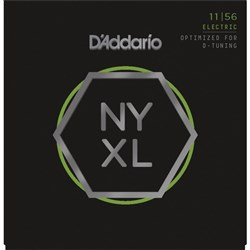 D'Addario NYXL1156 Nickel Wound Electric Strings Medium Top/Extra Heavy Bottom (11-56)