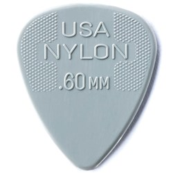 Jim Dunlop Nylon Standard Grey Pick (.60mm)