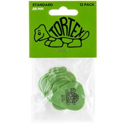 Dunlop Tortex Standard Guitar Pick 12-Pack - Green (.88mm)