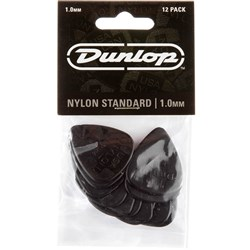 Dunlop Nylon Guitar Pick 12-Pack - Black (1.0mm)