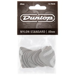 Dunlop Nylon Guitar Pick 12-Pack - Grey (.60mm)