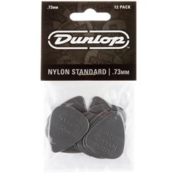 Dunlop Nylon Guitar Pick 12-Pack - Grey (.73mm)