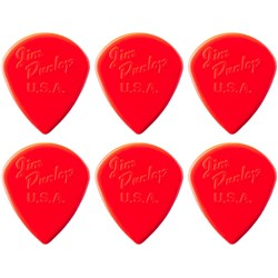 Dunlop Nylon Jazz III Guitar Pick 6-Pack (Red)