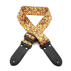 "DSL DP20 Guitar Strap (Orange Digital Printed Webbing, 2"")"