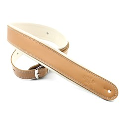 "DSL GEB Series Rolled Edge Strap w/ Buckle (Tan, Beige Backing , 2.5"")"