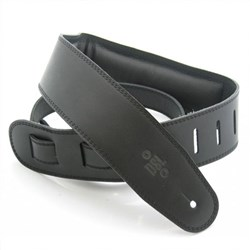 "DSL GEG Series Padded Guitar Strap (Black, Black Backing, 2.5"")"