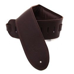 "DSL GEG Series Padded Guitar Strap (Saddle Brown, Brown Backing, 3.5"")"