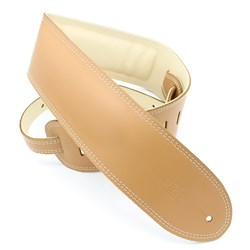 "DSL GEG Series Padded Guitar Strap (Tan, Beige Backing, 3.5"")"