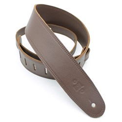 "DSL GLG 3-Ply Garment Leather Guitar Strap (Brown, Brown Backing, 2.5"")"