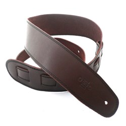 "DSL SGE Classic Guitar Strap (Saddle Brown, Black Stitching, 2.5"")"